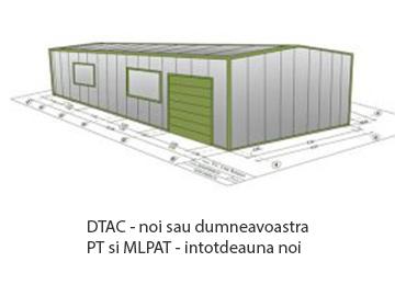 Proiectul la halele metalice Rotare