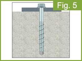 Screw for concrete