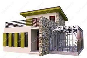 Galvanized steel light steel structure