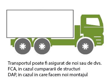 Transportul structurilor metalice usoare