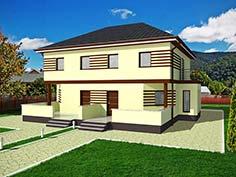 Structura metalica din tabla de otel zincat pentru Casa-duplex-3008