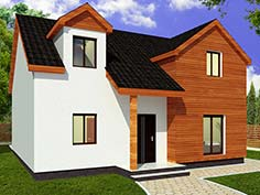 Structura metalica din tabla de otel zincat pentru Casa-multifamiliala-4001