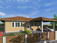 Structura metalica din tabla de otel zincat pentru Casa-pe-teren-ingust-5006