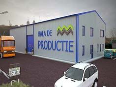 Hala productie cu structura metalica