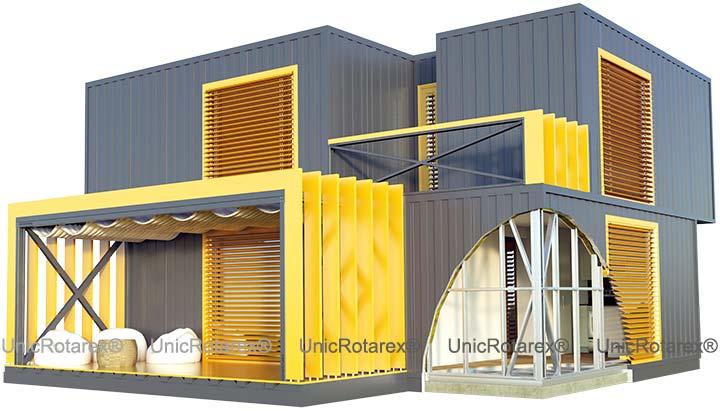 Case modulare dupa tehnologia Unic Rotarex®